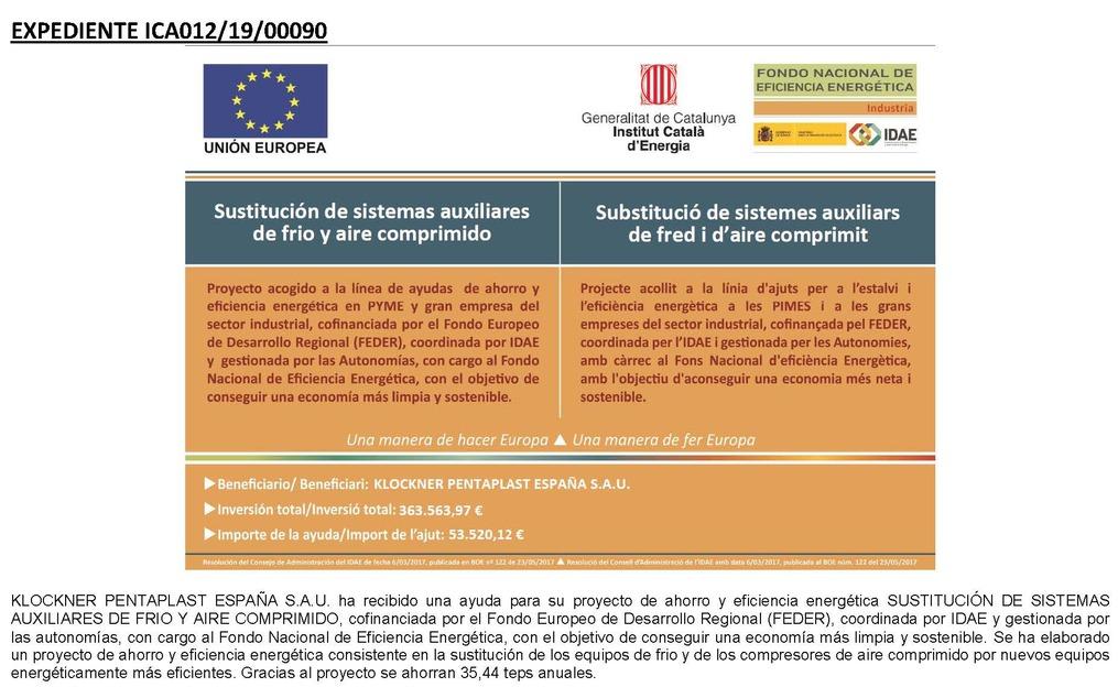 Klockner Pentaplast SAU Publication_Girona_Site_Project