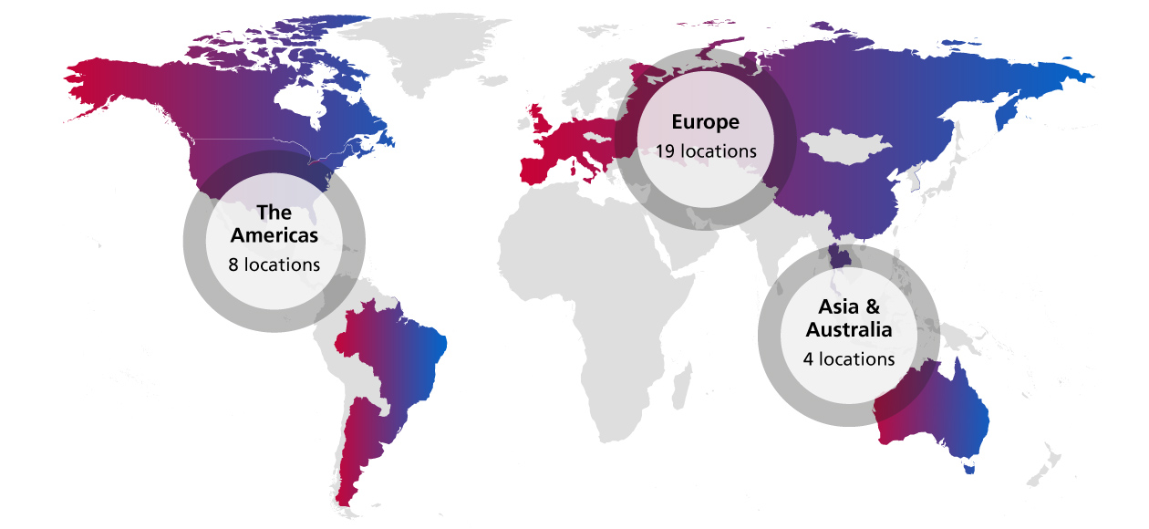 World Wide Locations of Klöckner Pentaplast Group
