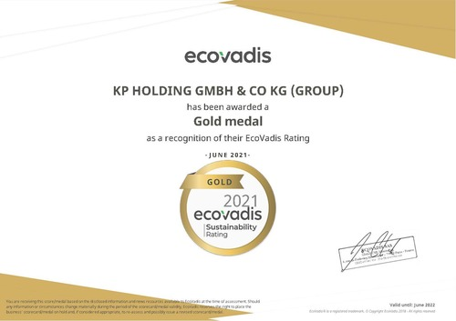 ecoVadis gold rating
