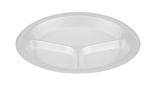 "Dinner Plate 10"" Three Compartment / TP4/3"